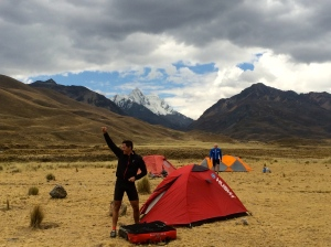 At bushcamp in Huascaran Park - 4250 meters