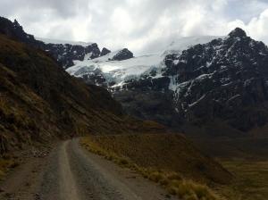 glacier in Cordillera Blanca