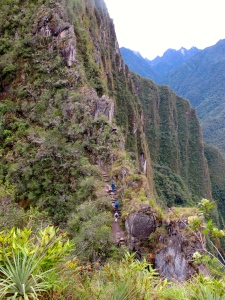 start of climb up Waynapicchu