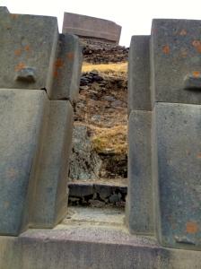doorway in ruins at Ollantaytambo
