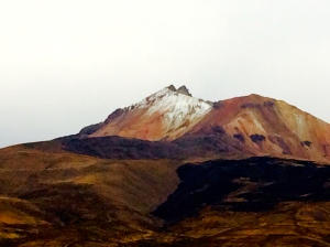 Volcano on route to Salar