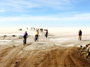 Heading out onto the Salar