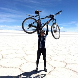 Buck and bike havin fun