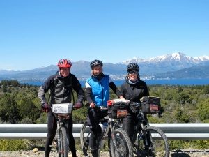 Team Norway with Bariloche in the background
