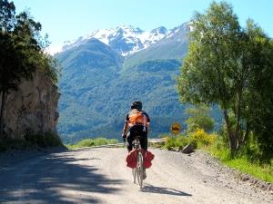 Bike Dreams rider along route - Brian  Bennett