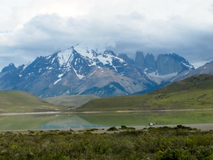 Torres del Paine with iconic towers on right